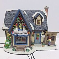 St Nicholas Square 2016 Holiday Village Lighted House, SKATE SHOP New in Box
