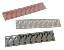 FLOCK Riddle Question Mark DIY Cosplay Iron on Transfer *Choice 3 sizes*