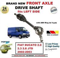 Pour Fiat Ducato 2.0 2.3 2.8 JTD 2002-2003 Tout Neuf Essieu avant Gauche Arbre