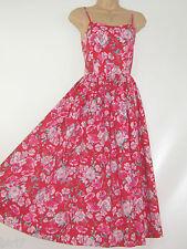 LAURA ASHLEY VINTAGE GERANIUM RED PANSY ROSE SUMMER SUNDRESS,8/10 (Label 12)