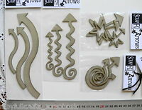 CHIPBOARD Die Cuts Various Fancy Shaped ARROWS - 4 Style Choice Scrap FX T