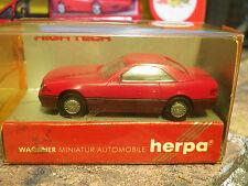 HERPA HO 1:87 MERCEDES 500 SL HARDTOP rouge, neuf en boite
