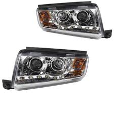 Scheinwerfer Set Skoda Fabia I Typ 6Y 99-07 LED klar/chrom Dragon Lights 1003067