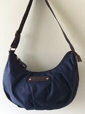 BETTY BARCLAY ladies small blue and brown vinyl underarm shoulder bag