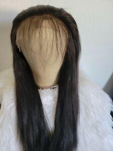 20in Human Hair Yaki Full Lace Wig 150% Density Cap size S/M