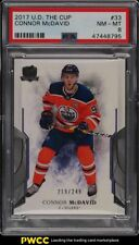 2017 Upper Deck The Cup Connor McDavid /249 #33 PSA 8 NM-MT