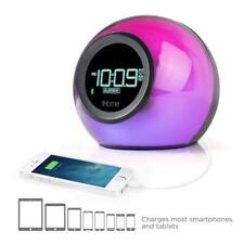 iHome Color Changing, BT, Dual Alarm FM Clock Radio w/USB Charging Port