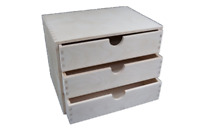 A4 Plain Wooden Cupboard Chest Shelf With Drawers Storage Desktop Unit D43