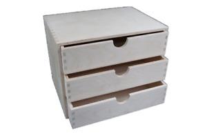 A4 Plain Wooden Cupboard Chest Shelf With Drawers Storage Desktop Unit D43