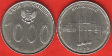 "Indonesia 1000 rupiah 2010 ""Angklung"" UNC"