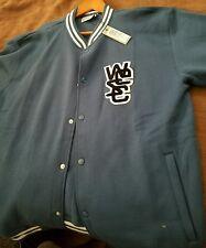 WESC Mens Blue Varsity Jacket NWT Size XXL