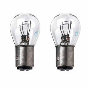 2x BAY15D P21/5W 1157 Rear Tail Light Brake Light Stop Light Clear Glass Bulbs