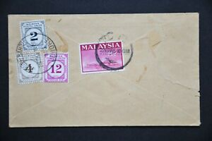 Malaysia Cover with MPU Postage Due Stamps - Johore Bahru cds 23 NOV 65 (LC742)