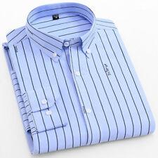 New Mens Shirt Striped Long sleeve Casual Formal Business Dress Shirts 6528