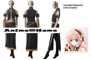 New Top Quality Hatsune Miku - Vocaloid Megurine Luka Cosplay Costume