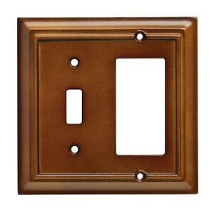 W10771-SDL Saddle Brown Architect Single Switch / Single GFCI Wall Cover Plate