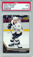 2005-06 Upper Deck Rookie Class Sidney Crosby Rookie Card Graded PSA 9