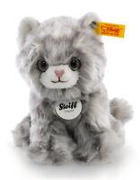 Steiff 'Minka' Kitten Cat - soft washable plush grey tabby soft toy - 084010