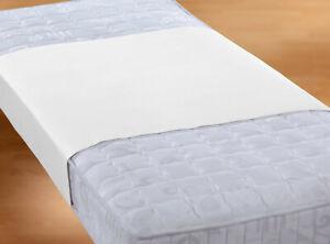 biberna Molton Inkontinenz Betteinlage Stecklaken wasserdicht 90x150 cm weiß 1b