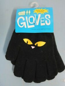 Paul Frank Black Kids SM/MED Gloves Flawless 15 year New Old Stock