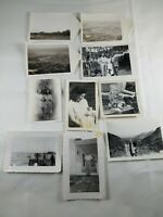Lot of 10 Vintage Collectible Pictures Photos from the 40's & 50's B&W Aerial +