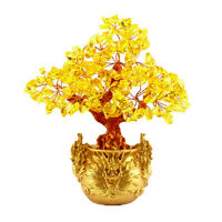 """Feng Shui Crystal Money Tree for Wealth Luck Office Living Room Decor 7"""" #5"""