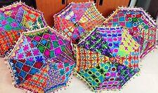 5 PC Wholesale Lot Designer Indian Patchwork Embroidered Umbrella Sun Parasol