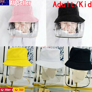Kid Adult Anti Dust Fog Protection Full Clear Face Removable Cover Sun Cap Hat