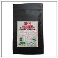 Meistverkauft NMN 250mg VEG Kapseln X 60 Nicotinamide Mononucleotide 99.8% Pure