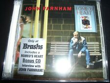 John Farnham Romeo's Heart Limited (Australia) 2 CD With Interview CD – Like New