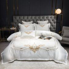 4pcs Bedding set Luxury Pure Cotton satin Duvet cover Flat sheet 2 Pillow shames