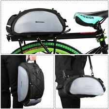 Fahrradtasche Gepäcktasche Gepäckträger Tasche mit Schulterriemen 13L schwarz