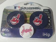 iHiP CLEVELAND INDIANS CHIEF YAHOO MLB TEAM LOGO SPEAKERS PLUG AND PLAY