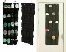 BLACK 20 PAIR POCKETS OVER DOOR SHOE STORAGE RACK HOLDER ORGANIZER NEW