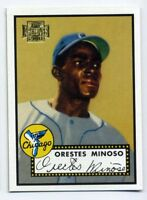 1952 Topps MINNIE MINOSO Rookie Card 195 Chicago White Sox 2001 Archives REPRINT