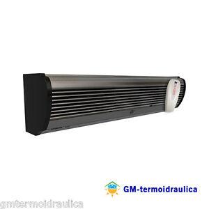 Barriera d'Aria Elettrica Lama Aria Vortice AIR DOOR AD1200 120 cm Alluminio