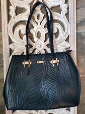 ESBEDA Women's Large Strapped Black Shoulder Tote Hobo Bag Purse NEW