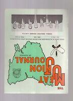 Tasmanian 1968 Meat Union Journal