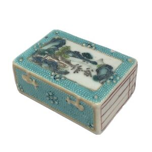 Antique Chinese Porcelain Scroll Weight C1800
