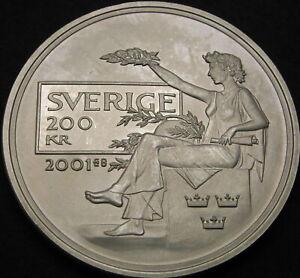 SWEDEN 200 Kronor 2001 Proof - Silver - Nobel Prize - 1787 ¤