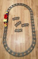 LEGO DUPLO LARGE TRAIN SET TRACK & TRAIN WITH 2 CARRIAGES LOVELY CONDITION