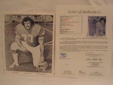 Lyle Alzado (Died 1992) Autographed 8x10 Black & White Photo Full JSA LOA RARE!