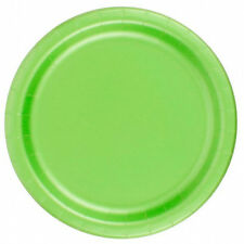 "24 Plates 6 7/8"" Paper Dessert Plates Wax Coated - Citrus Green"