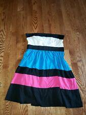 Womens Rue21 Size Large Sleeveless Tube Dress stripes