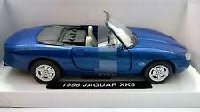 TOY TIME 1:32 JAGUAR XK9 1998 BLU METALLIZZATO PULL BACK RETROCARICA ART 0981