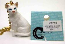 Oriental Short Hair, White Cat Chain Pull Conv. Concepts, Item Ctp19