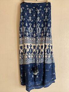 Adrift The Clothing Label Blue Paisley Skirt- 14