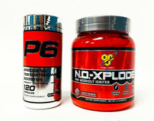 Cellucor P6 Original Red + BSN NO XPLODE Pre Workout Combo Stack BUILD MUSCLE