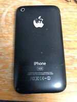 Used genuine Apple housing back cover case battery door iPhone 3Gs A1303 black