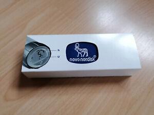 Novo Pen 5, digitaler Insulinpen + Tasche NEU, silber, zeigt Stunden u Einheiten